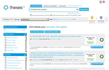 http://www.theses.fr/?q=formation%20des%20adultes
