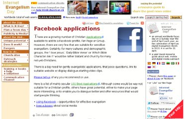 http://www.internetevangelismday.com/facebook-applications.php