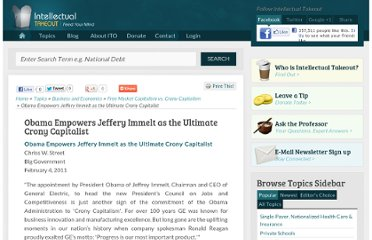 http://www.intellectualtakeout.org/library/articles-commentary-blog/obama-empowers-jeffery-immelt-ultimate-crony-capitalist