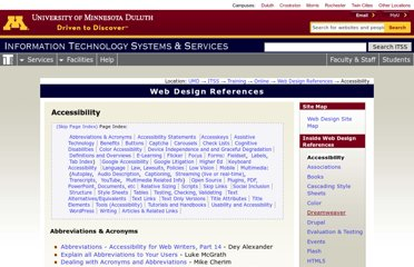 http://www.d.umn.edu/itss/training/online/webdesign/accessibility.html