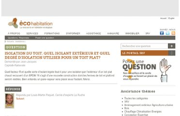 http://www.ecohabitation.com/assistance/question/isolation-du-toit-quel-isolant-exterieur-et-quel-degre-disolation-utiliser-pour-un-toit