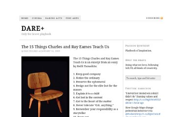 http://www.dare.co.uk/observations/the-15-things-charles-and-ray-teach-us/