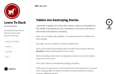 http://learntoduck.net/tablets-destroy-story