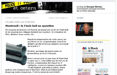 http://moreas.blog.lemonde.fr/2009/07/14/montreuil-le-flash-ball-en-question/