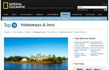 http://travel.nationalgeographic.com/travel/top-10/hideaways-inns/#page=2