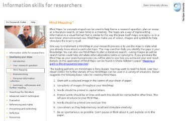 http://www.open.ac.uk/infoskills-researchers/developing-mindmapping.htm