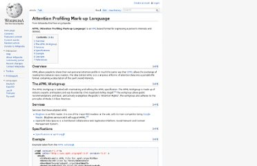 http://en.wikipedia.org/wiki/Attention_Profiling_Mark-up_Language