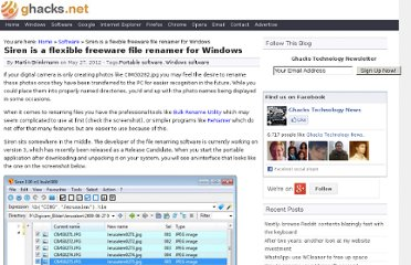 http://www.ghacks.net/2012/05/27/siren-is-a-flexible-freeware-file-renamer-for-windows/