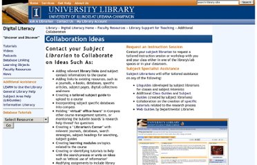 http://www.library.illinois.edu/diglit/faculty/teaching/collaboration.html