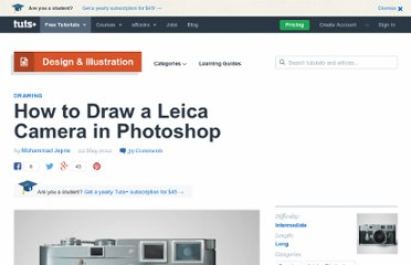 http://psd.tutsplus.com/tutorials/drawing/draw-a-leica-camera/