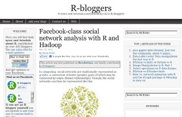 http://www.r-bloggers.com/facebook-class-social-network-analysis-with-r-and-hadoop/