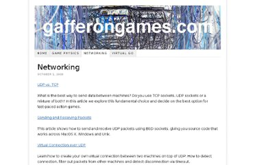 http://gafferongames.com/networking-for-game-programmers/
