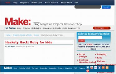 http://blog.makezine.com/2007/07/15/hackety-hack-ruby-for-kids/