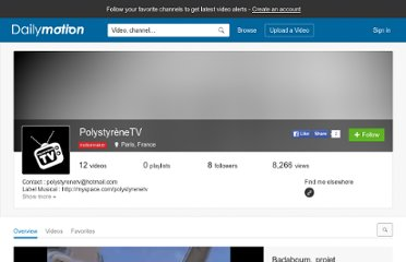 http://www.dailymotion.com/PolystyreneTV#video=x2y9b3