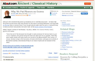 http://ancienthistory.about.com/b/2012/10/05/why-we-put-flowers-on-graves.htm