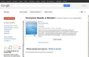 http://books.google.co.uk/books/about/Everyone_Needs_a_Mentor.html?id=4OYegB6lbQAC#v=onepage&q&f=false
