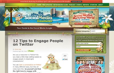http://www.socialmediaexaminer.com/12-tips-to-engage-people-on-twitter/