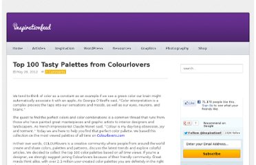 http://inspirationfeed.com/resources/tools/top-100-tasty-palettes-from-colourlovers/