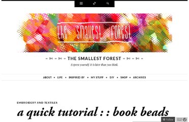 http://smallestforest.net/2009/11/23/a-quick-tutorial-book-beads/