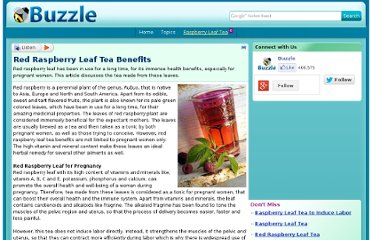 http://www.buzzle.com/articles/red-raspberry-leaf-tea-benefits.html