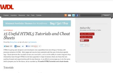 http://webdesignledger.com/tutorials/15-useful-html5-tutorials-and-cheat-sheets