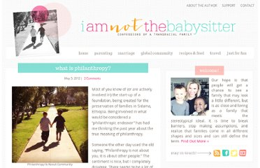 http://www.iamnotthebabysitter.com/what-is-philanthropy/