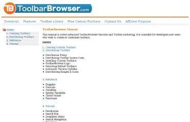 http://www.toolbarbrowser.com/manual/index.html