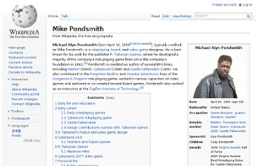 http://en.wikipedia.org/wiki/Mike_Pondsmith