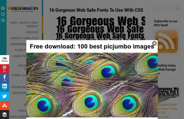 http://www.webdesigndev.com/web-development/16-gorgeous-web-safe-fonts-to-use-with-css