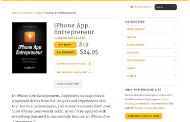 http://rockablepress.com/books/iphone-app-entrepreneur