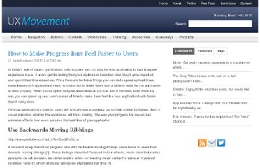 http://uxmovement.com/buttons/how-to-make-progress-bars-feel-faster-to-users/