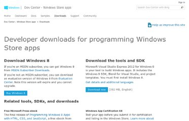 http://msdn.microsoft.com/en-us/windows/apps/br229516.aspx