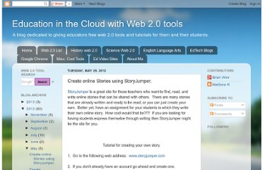 http://educationwebcloud.blogspot.com/2012/05/create-online-stories-using-storyjumper.html