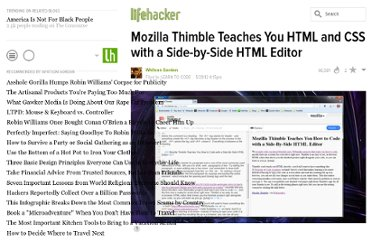 http://lifehacker.com/5914119/mozilla-thimble-teaches-you-how-to-code-with-a-side+by+side-html-editor