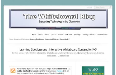 http://www.whiteboardblog.co.uk/2012/05/learning-spot-lessons-interactive-whiteboard-content-for-k-5/