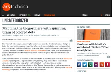http://arstechnica.com/news.ars/post/20081221-mapping-the-blogosphere-with-spinning-brain-of-colored-dots.html