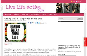 http://livelifeactive.com/2012/02/29/eating-clean-approved-foods-list/