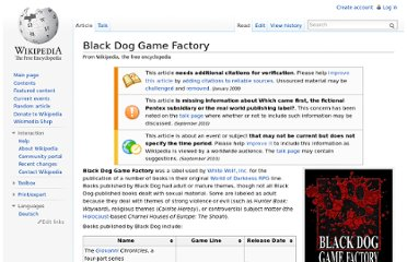 http://en.wikipedia.org/wiki/Black_Dog_Game_Factory