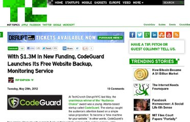 http://techcrunch.com/2012/05/29/codeguard-series-a-launch/