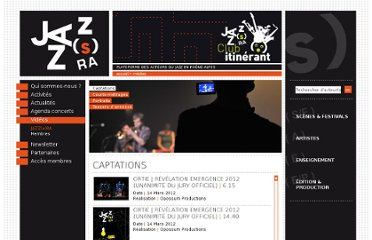 http://www.jazzsra.fr/medias/videos.php?type=Captations