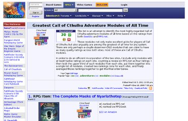 http://rpggeek.com/geeklist/49681/greatest-call-of-cthulhu-adventure-modules-of-all
