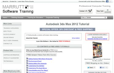 http://www.softwaretrainingtutorials.com/3ds-max-2012.php