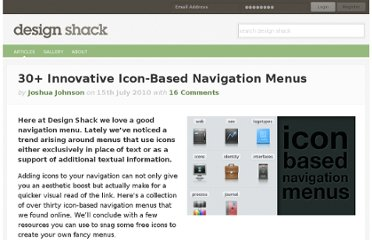 http://designshack.net/articles/css/30-innovative-icon-based-navigation-menus/