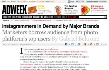 http://www.adweek.com/news/advertising-branding/instagrammers-demand-major-brands-140792