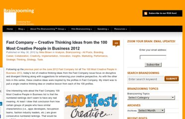 http://brainzooming.com/fast-company-creative-thinking-ideas-from-the-100-most-creative-people-in-bsiness-2012/12247/