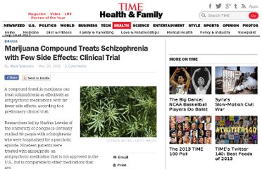 http://healthland.time.com/2012/05/30/marijuana-compound-treats-schizophrenia-with-few-side-effects-clinical-trial/