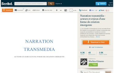 http://fr.scribd.com/doc/38326864/Narration-transmedia-acteurs-et-enjeux-d-une-forme-de-creation-emergente