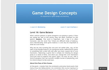 http://gamedesignconcepts.wordpress.com/2009/08/20/level-16-game-balance/