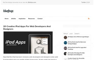 http://bluefaqs.com/2010/04/20-creative-ipad-apps-for-web-developers-and-designers/