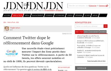 http://www.journaldunet.com/solutions/seo-referencement/smo-et-seo-l-impact-d-un-tweet-sur-le-referencement-naturel.shtml